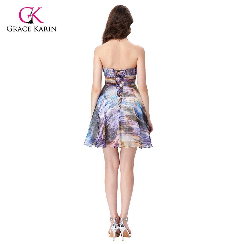 680e46bd1 Aliexpress.com  Comprar Gracia Karin Vestidos de cóctel 2018 para la boda  mujeres sin mangas verano vestido formal corto estilo de impresión robe de  cóctel ...