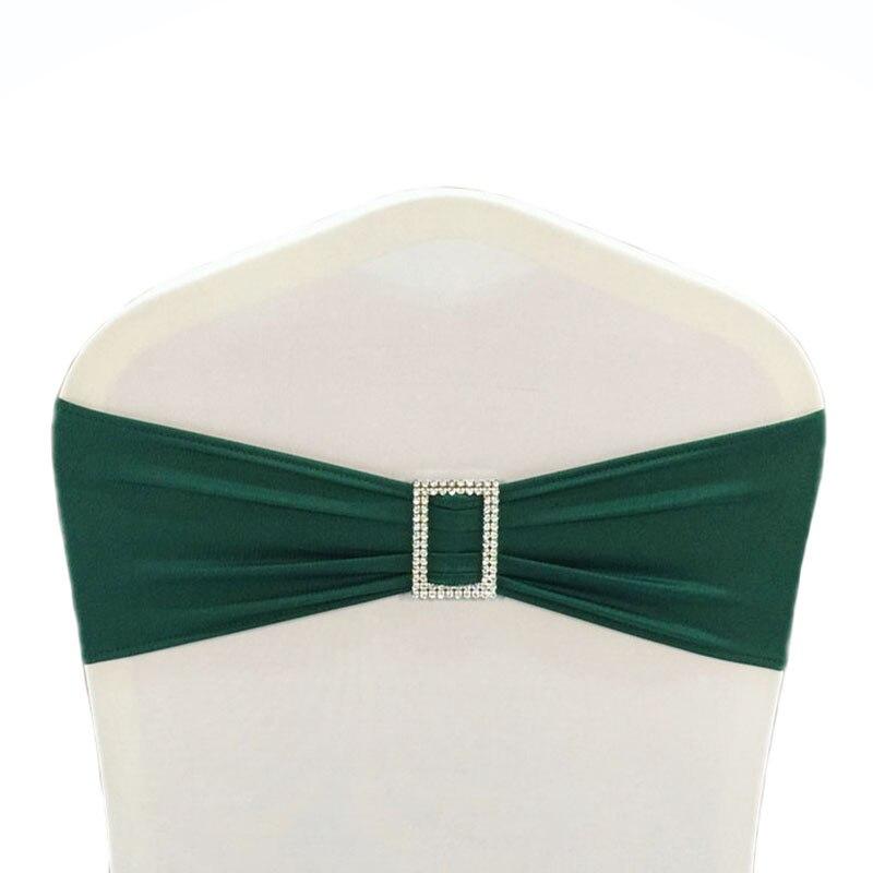 100 piezas blanco/Marfil/negro brillante Spandex Lycra silla banda ...