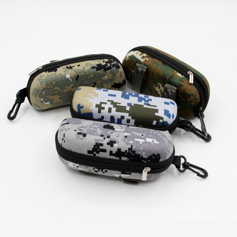EVA Portable Sunglasses Box Storage Protector Camouflage Tactical Molle Sun Goggle Glasses Bag Case Outdoor EDC Bag With Hook
