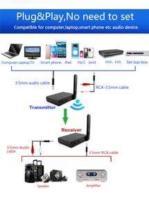 Image 4 - Uhf Hifi Digitale Draadloze Audio Transceiver Adapter Draadloze Muziek Sound Zender Ontvanger Met 3.5 Mm Rca Audio Kabel