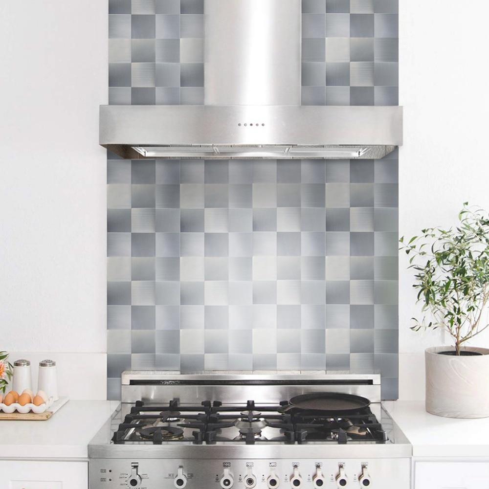 Peel And Stick Backsplash Tile Contact Aluminum Adhesive Kitchen Paper Sheets