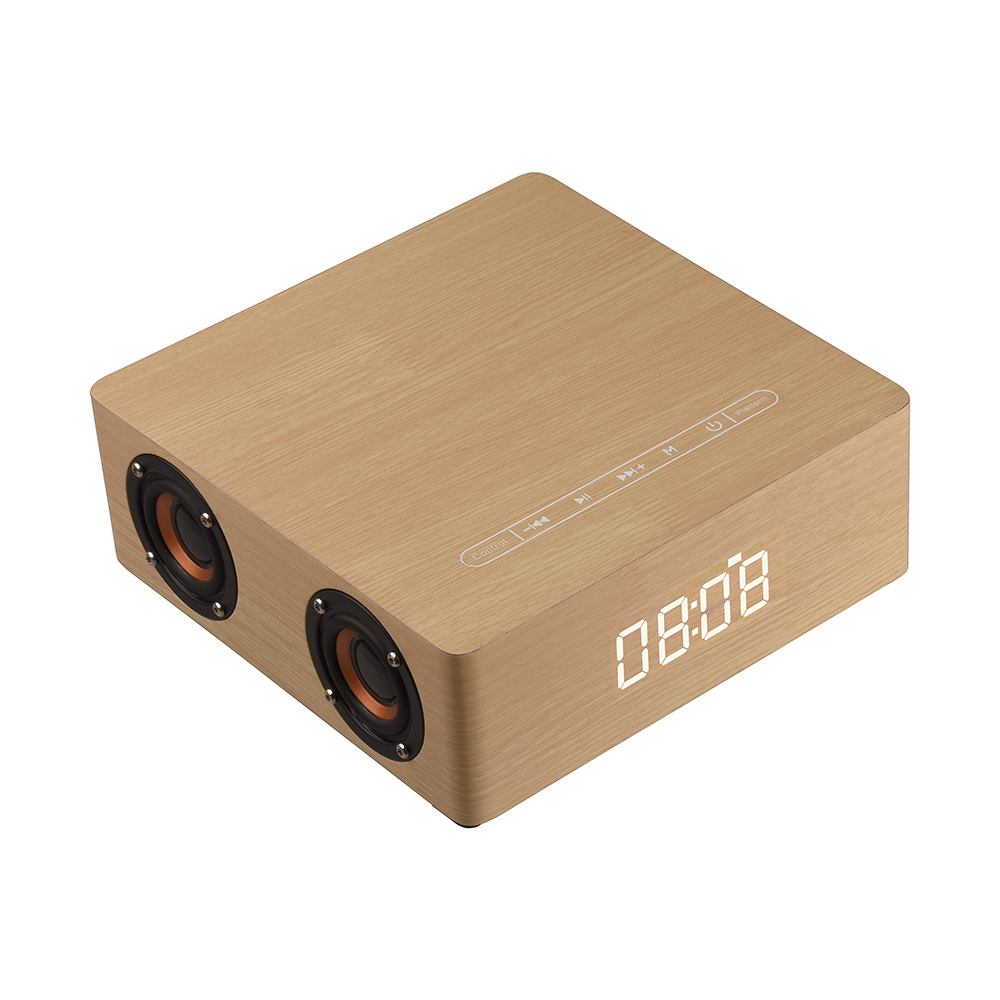 Abuzhen Bluetooth Speaker Cardboard Wireless Portable Speakers Clock Display with USB TF AUX for Tablet iPhone Samsung Xiaomi getihu portable mini bluetooth speakers wireless hands free led speaker tf usb fm sound music for iphone x samsung mobile phone