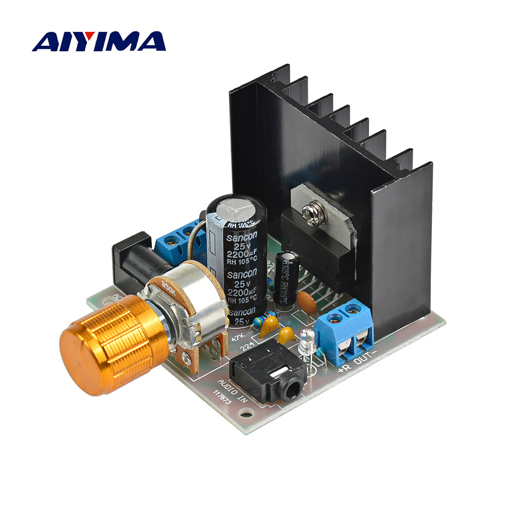 Aiyima 12v Tda7297 Audio Amplifier Board Amplificador Class Ab Stereo Dual Channel 15w In From Consumer Electronics On