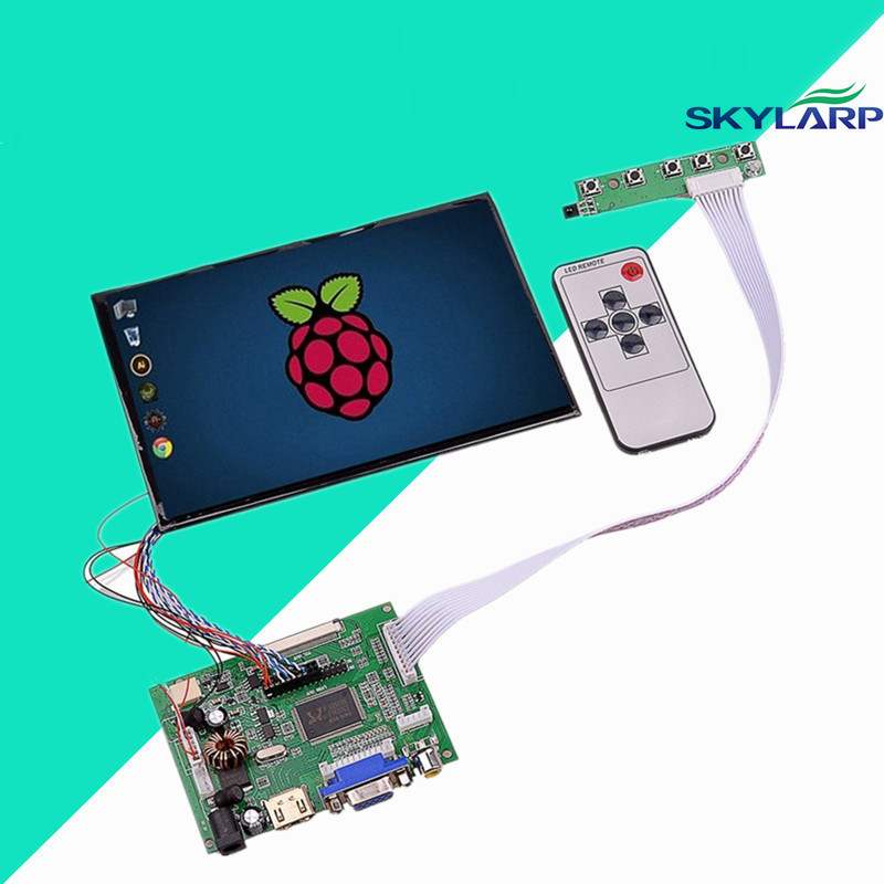 7 High Resolution 1280*800 IPS 39 Pins Screen Multifunctional Driver Board with AV2 HDMI VGA for Raspberry Pi Free shipping
