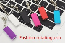 Fashion rotating usb memory stick 2.0 flash drive 128gb 64gb 32gb 16gb 8gb 4gb  disk pen gadget