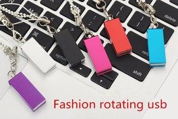 Fashion rotating usb memory stick 2.0 flash drive 128gb 64gb 32gb 16gb 8gb 4gb  disk pen gadget