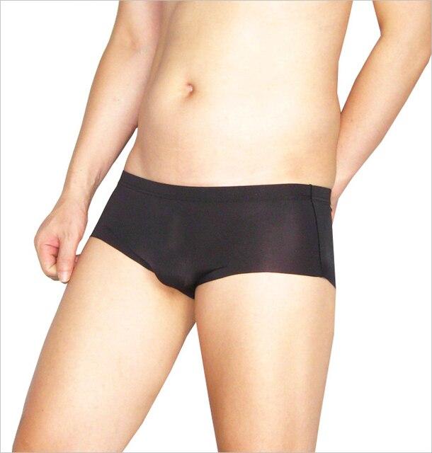 Бесплатная доставка мужской тип трусики прозрачные трусики ультра-тонких мужской черный белье сумка трусиков