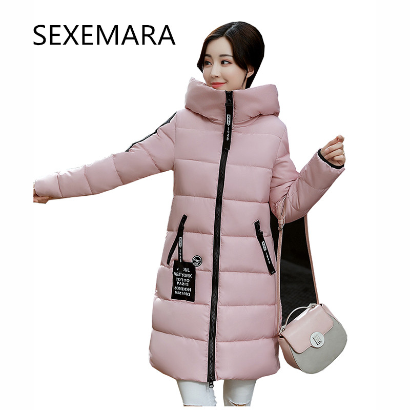 Women's brand winter coat 2017 new leisure long-sleeved zipper hooded Long section warm park cashmere jacket female LU210 [free shipping] 2015 new arrival fashion female 1 4 years child love baby cashmere long sleeved jacket trousers leisure suit