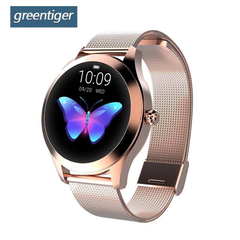 Greentiger Fashion KW10 Smart Watch Women IP68 waterproof Multi sports modes Heart Rate Fitness Tracker Bracelet