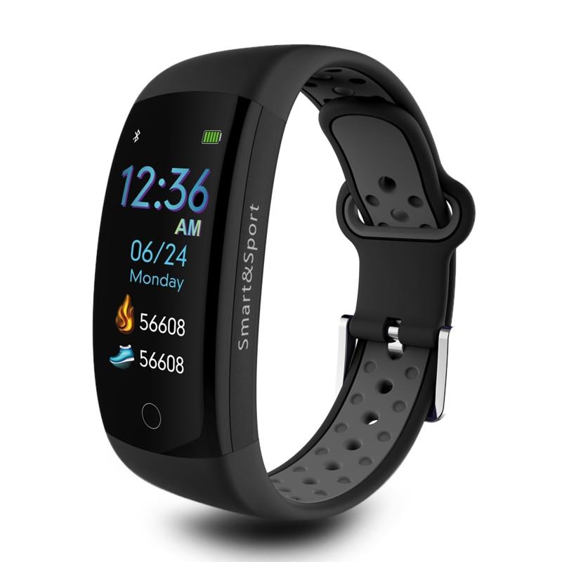 3D dynamic Q6S Smart watch Bracelet Blood Pressure Heart Rate Monitor smart wristband IP68 waterproof sport Fitness tracker band