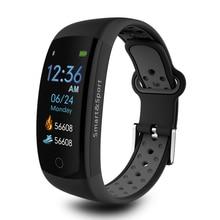 3D динамический Q6S Смарт-часы браслет крови Давление монитор сердечного ритма Смарт-браслет IP68 водонепроницаемой экш-Фитнес трекер band