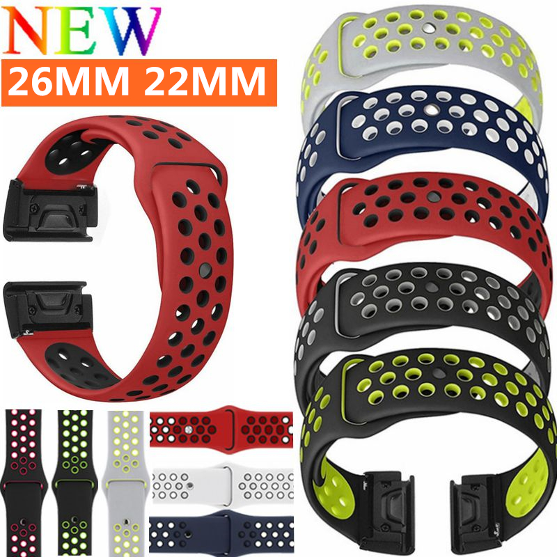 26mm Replacement Watch Band Belt Quick Replacement Fit Band bracelet strap Wristband For Garmin Fenix 3 / Fenix 3 HR / Fenix 5X new replacement silicagel soft quick release kit band strap for garmin fenix 3 hr fenix 3 gps watch drop shipping 0629