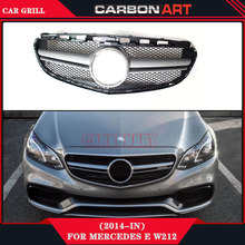 2014 Mercedes E class W212 E63 AMG Design black color abs replacement car front grill mesh automotive grill