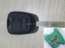 2 Кнопки Дистанционного Ключа Для Peugeot 307 434 мГц С Электронным Чипом id46 (VA2 Лезвия Без Канавки)