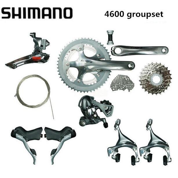 Groupe Shimano TIAGRA 4600 2x10 S 20 S vitesse 170mm 52-39 T pour vélo de route mise à jour de vélo de 4500 nouvelle arrivée