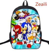 e836a4169b2 16-inch cartoon ontwerp rugzakken voor kinderen jongens meisjes super sonic  game boekentas rugzak basisschoolleerlingen