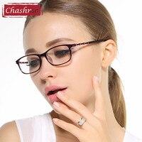 Chashma Baboo Estilo Templos Gafas de Moda Marcos De Anteojos Recetados Ligero para Las Mujeres