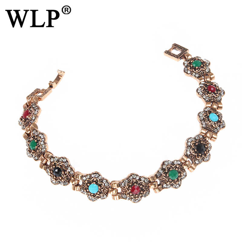 WLP 2018 New Colorful Bracelets European And American Retro Court Exquisite Luxury Bracelet Dinner Feminine Accessories C0956