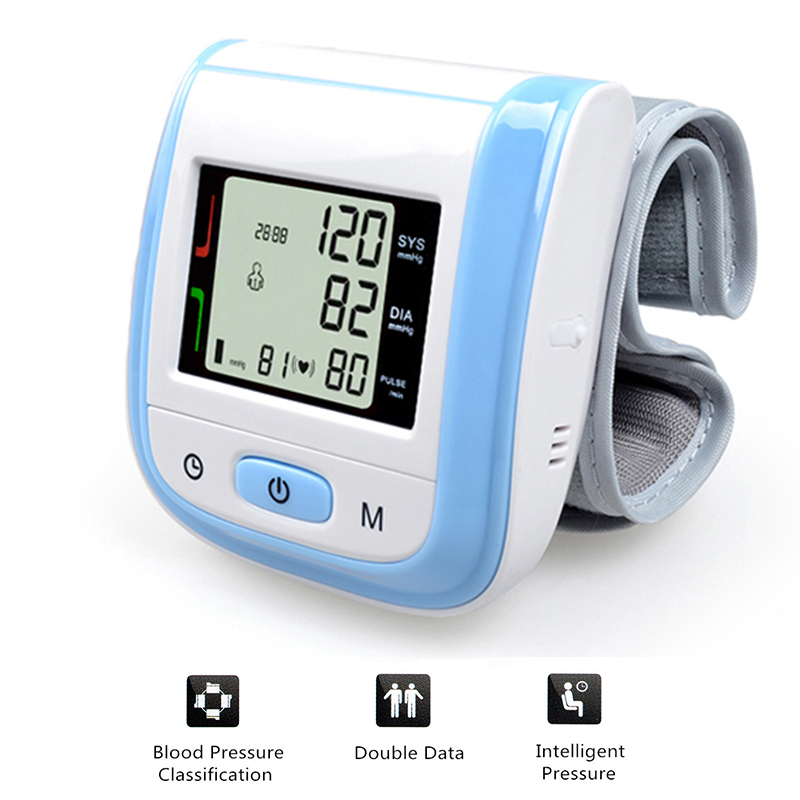 Health Care  Digital LCD Wrist Blood Pressure Monitor Tonometer Tensiometro Automatic Sphygmomanometer Blood Pressure Meter health care wrist portable digital automatic blood pressure monitor