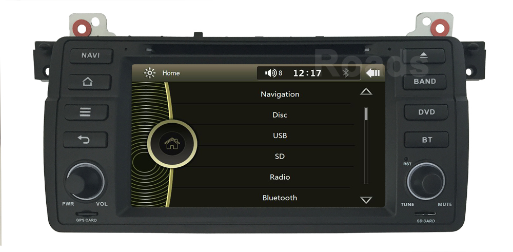 Car DVD Player for BMW E46 3 Series M3 with Radio Bluetooth GPS Navigation Canbus