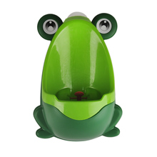 1Pc Cute Animal Baby Boy Urinal Frog Shape Baby Boy Standing Toilet Training Home Wall-Mounted Urinals Travel Toilet For Child