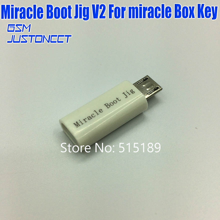 New Miracle Boot Jig For Miracle Box &miracle Boot Key Software Repair Part Fast Shipping