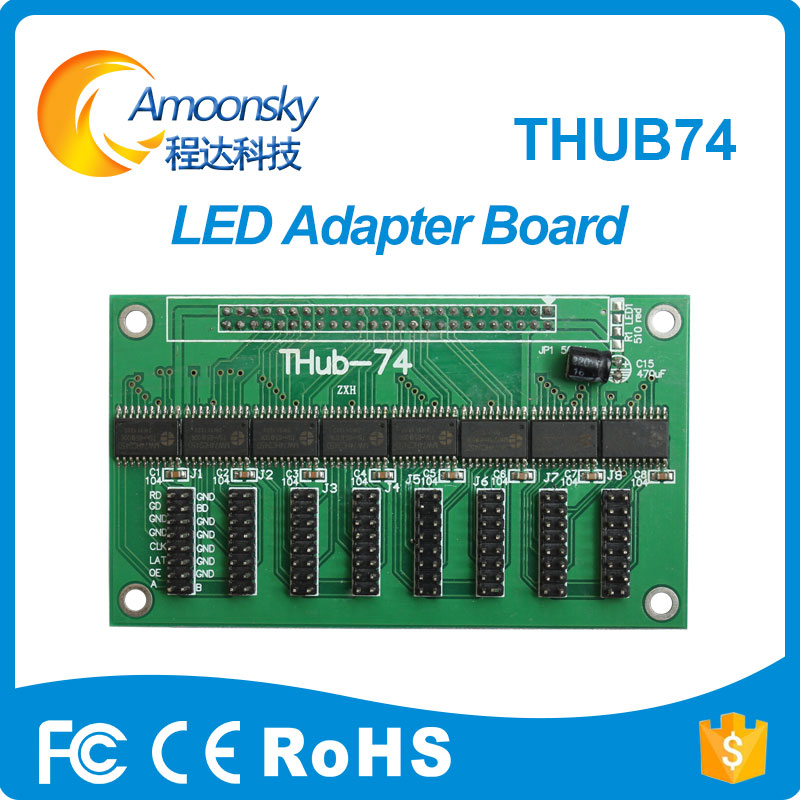 HUB74 Port Pinboard For Led Module Adapter Board AMS-HUB74 For Fixed Led Display