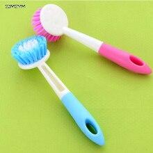 Высококачественная щетка с длинной ручкой, может висеть, моющая посуда, щетка для чистки, цвет случайный