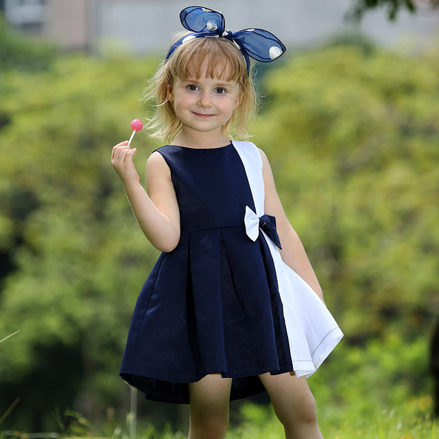 Aliexpress.com : Buy Hot Sale Baby Girl Summer Dresses With Navy ...