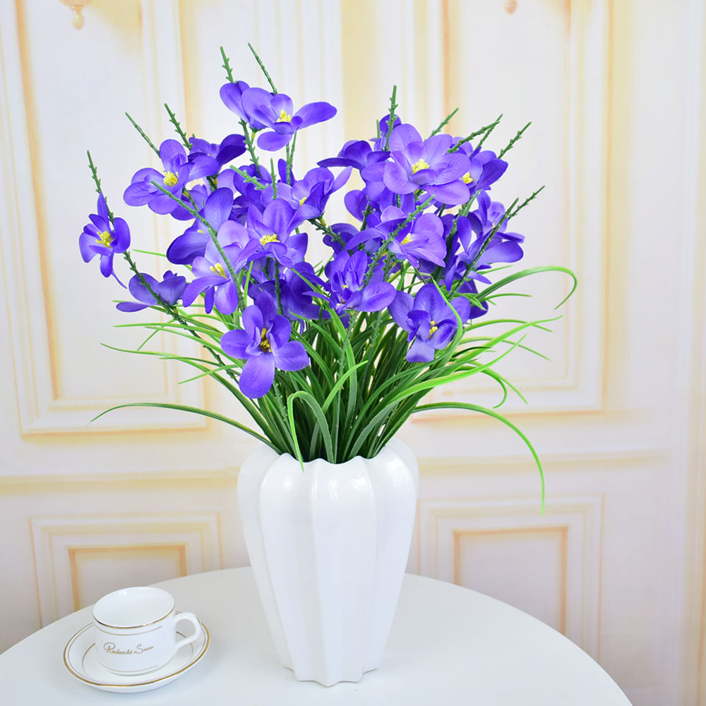 Silk Orchid Artificial Flowers For Home Tabletop Garden Wedding