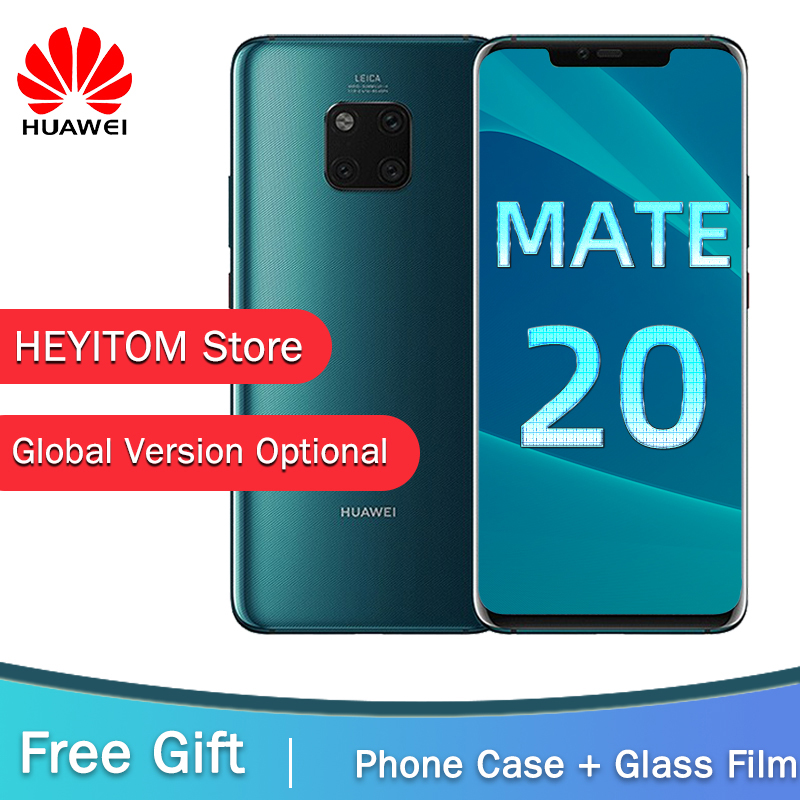 Global Version Optional HUAWEI Mate 20 Pro Mobile Phone Full Screen Waterproof IP68 40MP 4 Cameras Kirin 980 FACE ID UNLOCK