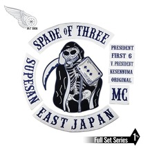 mc1931 Brand SPADE OF THREE Iron On Patches SUPESA EAST JAPAN Patch Big Size for Full Back of Jacket Rider Biker Free Shipping gargoyles fallston n g mc iron on sew on patch big size for full back of jacket rider biker embroidery patch free shipping