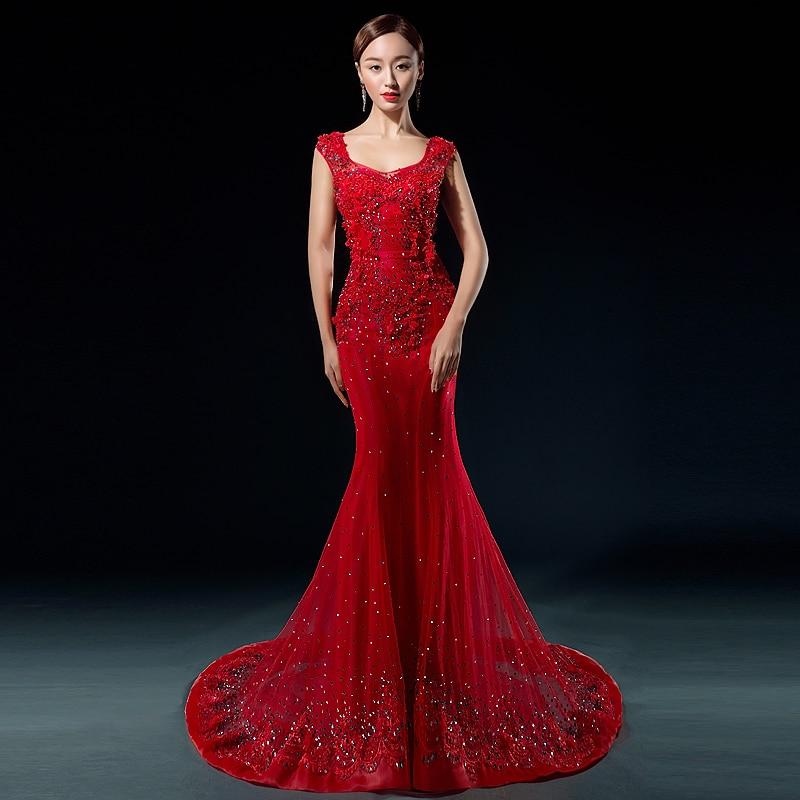 New Design Fashion Luxury Bride Dresses Mermaid Lace Wedding Dress ...