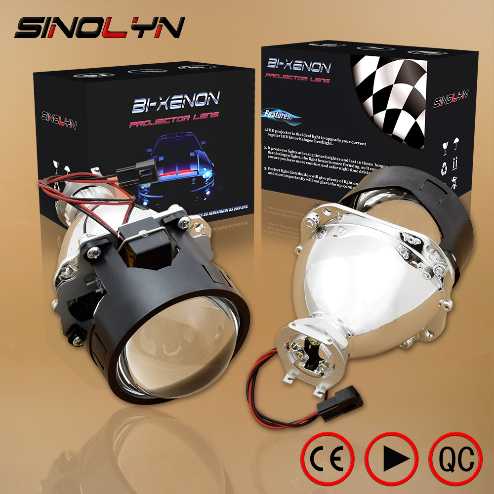 SINOLYN Car Styling LHD RHD Retrofit WST Mini HID H1 2.5 inch Bi-xenon Projector Lens Headlight lenses fits H4 H7,Use H1 Bulb