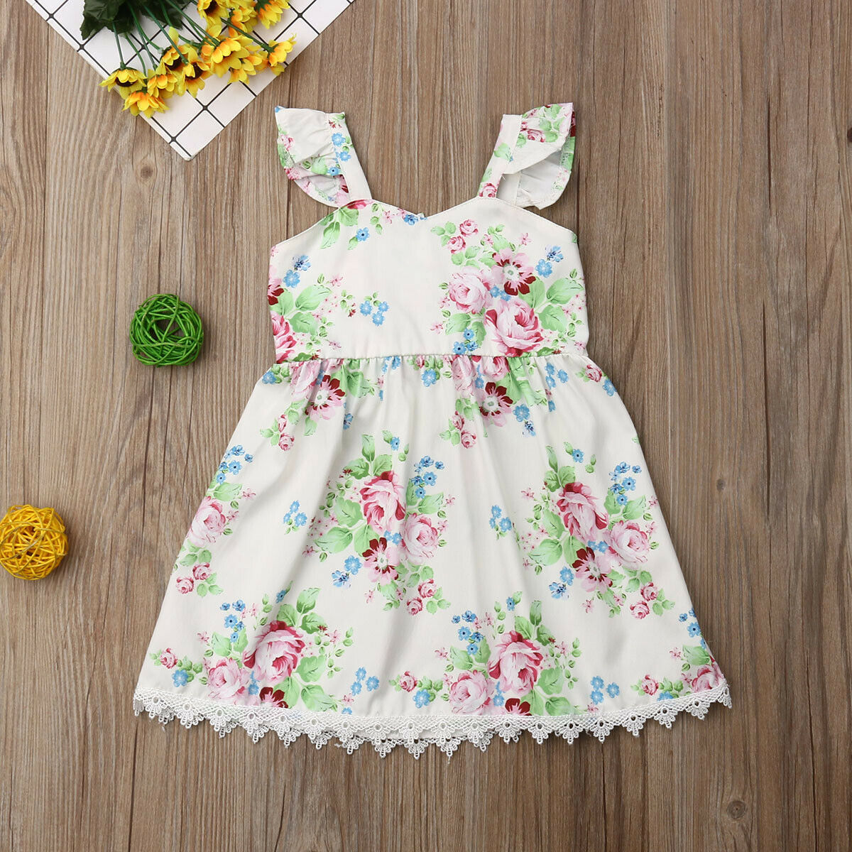 Flower Princess Dress Girl Kids Baby Party Wedding Pageant Floral Casual Dresses