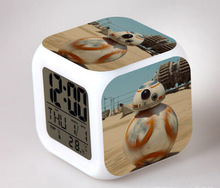 New The Force Awakers Star Wars 7 BB 8 Elsa Alarm Clock Digital LED Klokken Alarm