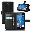 Lumia 650 case cubierta de lujo retro flip casos para microsoft lumia 650 cartera de cuero cubierta de silicona case para capa para nokia lumia 650