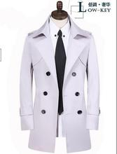 Men s clothing spring and autumn plus size double breasted trench coats mens medium long coat