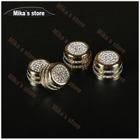1sets (4pcs) For mini cooper R56 R55 R60 R61 car styling Crystal car air outlet switch inner decoration sticker