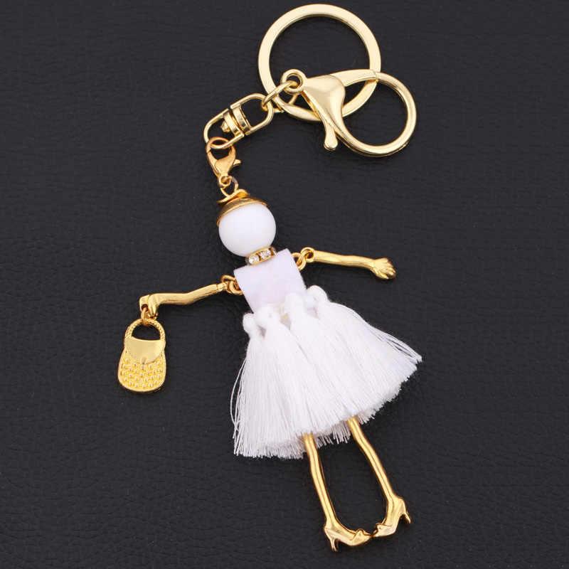Chenlege بالجملة سلسلة مفاتيح الموضة حقيبة keyrings charms السيدات سلاسل المفاتيح للنساء المعلقات مجوهرات سيارة مفتاح سلسلة حلقة هدايا