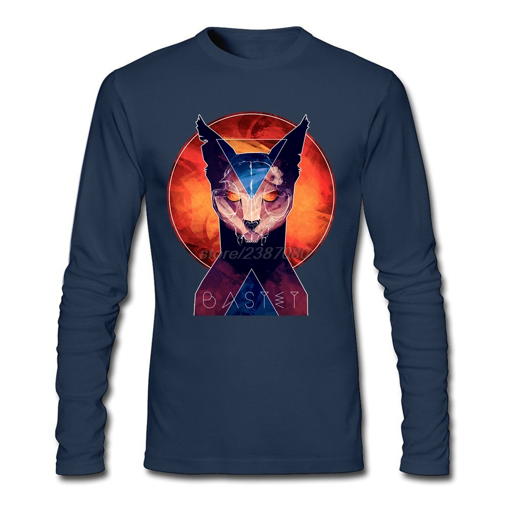 Design t shirt europe - For Man Bastet Cat Goddess T Shirt Personalized Pre Cotton Tshirt Design New