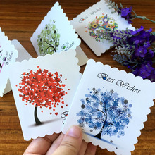 Popular taobao gift card buy cheap taobao gift card lots from china 2017 new tree greeting card taobao sellers message card no envelope handmade christmas gifts postcards wedding decoration card junglespirit Image collections