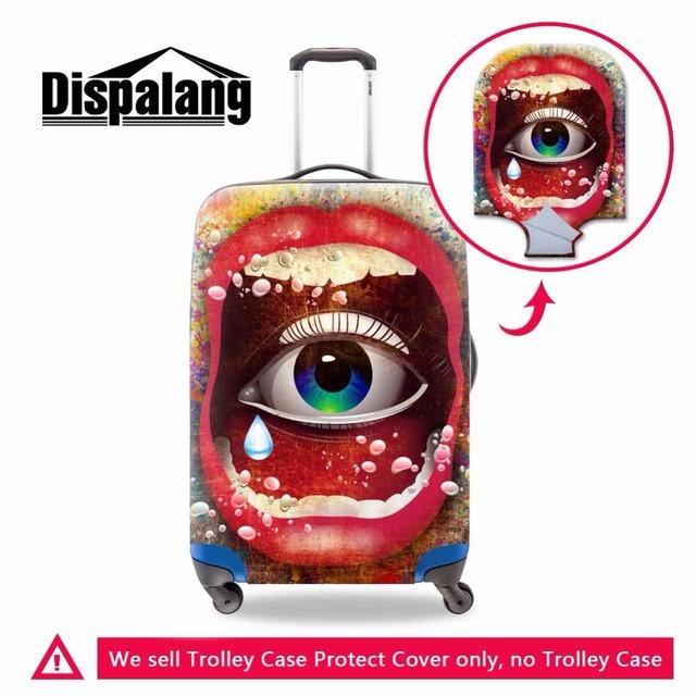 Dispalang durável elástico viagem bagagem capa protetora legal olhos impressão tampa da mala com zíper impermeável à prova de poeira capa de chuva