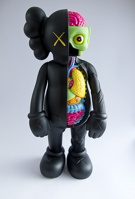 1pc 16 Inch Originalfake KAWS Dissected Companion Figure Without Original Box originalfake kaws 4ft kaws dissected 1 1 kaws toys for home decoration factory sample