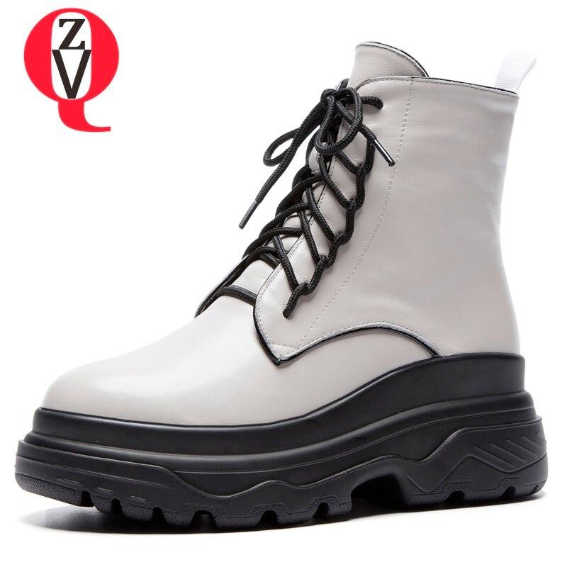 1c32f459909 Plataforma Pie Mujer Cruz Dedo Del Caliente atado Tobillo Popular Black  Alto Nueva Cuero De botas Botas Genuino Felpa 2018 Redondo Zapatos ...