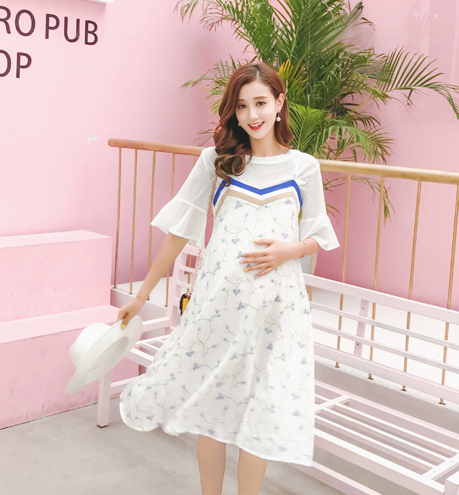 Aliexpress.com: Comprar Pengpios maternidad ropa floral hermosa gasa ...