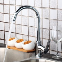 Polished Chrome Luxury New Kitchen Swivel Sink Tap Brass Basin Vessel Mixer Torneira Cozinha Faucet