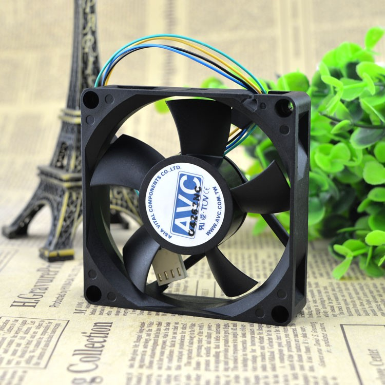 Wholesale AVC DA080B12U 8cm 80 80*80*mm 12V 0.46A 4-line PWM Tempreture Control CPU chassis cooling fan