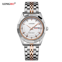 LONGBO üst lüks marka kuvars İzle kadınlar paslanmaz çelik saat kadın moda bayanlar bilezik saatler elbise reloj mujer 80164