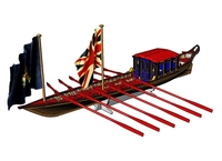 ZHL HMS Barge Scale 1/48 10 L 254mm royal British yacht Wooden Ship model kit